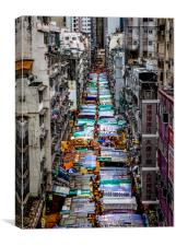 Temple Street Night Market, Canvas Print