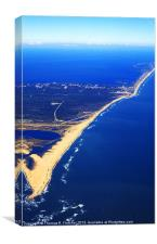 Cape Hatteras National Seashore Aerial View, Canvas Print