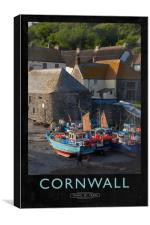 Cornwall Railway Poster, Canvas Print