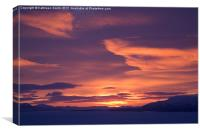 Clouds at sunrise in Lapland, Canvas Print