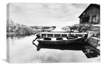 Rowing boat, Canvas Print