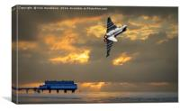 Cleethorpes Pier Salute, Canvas Print