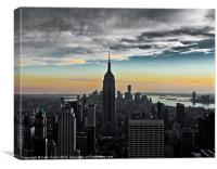 Empire State, Stormy Sunset., Canvas Print