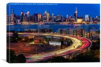 Lincoln Tunnel Helix and NYC Skyline, Canvas Print