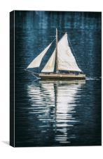 The lone boat. , Canvas Print