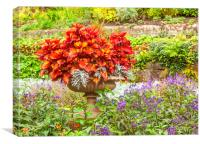 The Floral Display, Canvas Print