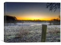 A cold start to the day., Canvas Print