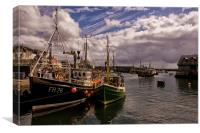 Mevagissey Harbour in Cornwall, Canvas Print