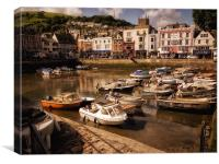 Dartmouth Town Harbour, Canvas Print