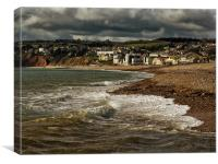 Stormy Skies over Axmouth, Canvas Print