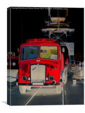 Red Truck, Canvas Print