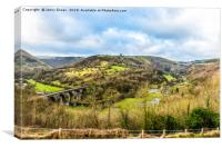 The Monsal Trail viaduct, Bakewell, Derbyshire , Canvas Print