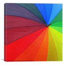 Arty rainbow umbrella!, Canvas Print