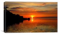 Arty Clevedon Sunset, Canvas Print