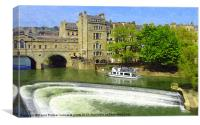 Pulteney weir in Bath, Canvas Print
