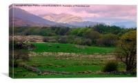 Countryside view in the Lake District, Canvas Print