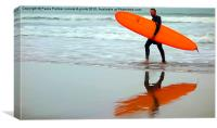 Surfer's reflection, Canvas Print