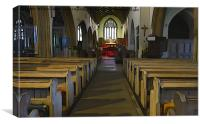 View of inside St.Mary's church Tenby, Canvas Print
