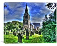 St. Lukes Church Crosby, Canvas Print