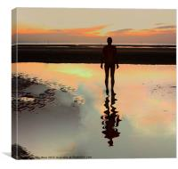 Reflection of an Iron Man, Canvas Print