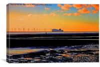 Belfast Ferry..., Canvas Print