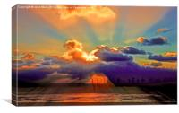 Sunset Beach, Canvas Print