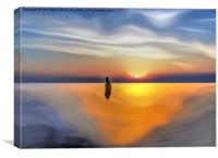 An Iron Man at Sunset, Canvas Print