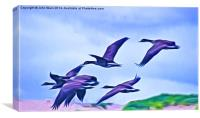 Geese in  flight, Canvas Print