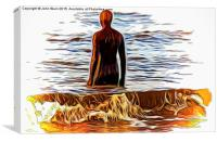 Gormley (Digital Art)., Canvas Print