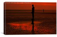 Four Gormley Iron Men, Canvas Print