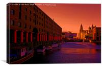 Royal Albert Dock And the Pier Head, Canvas Print