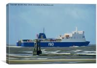 Isle of Man Ferry, Canvas Print