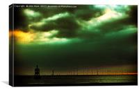 Before the storm , Canvas Print