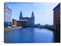 Liver Building from Princes Dock, Canvas Print