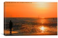 Two Gormley Iron Men, Canvas Print
