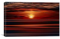 Bronze Sunset, Canvas Print
