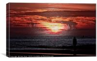 As the Sun goes down, Canvas Print