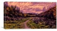 A Gentle Walk at sunset, Canvas Print