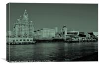 Liverpool Waterfront Skyline, Canvas Print