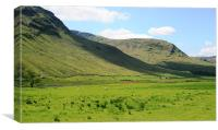 Scottish Glen Lyon, Canvas Print