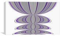 Purple and grey bubble pattern, Canvas Print