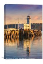 Sunset over Scarborough Lighthouse, Canvas Print