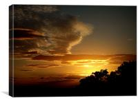 SUNSET OVER TREES, Canvas Print