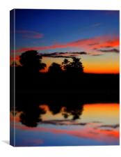 as the day ends, Canvas Print