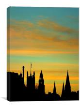 edinburgh-cityscape, Canvas Print