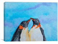 these 2 stick together in the cold, Canvas Print