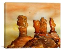 monument valley N.P., Canvas Print
