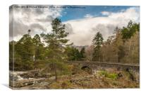 Ben Lawer from Killin with the Falls of Dochart, Canvas Print