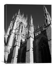 York Minster in Black and White, Canvas Print