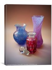 Still Life with Cranberry Bottle, Canvas Print